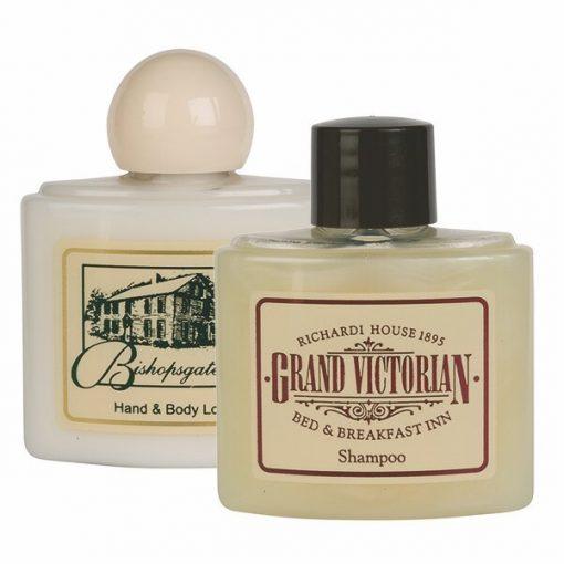 Milk & Shea Butter Hand & Body Lotion 1 1/2 Oz. Wide Oval Bottle w/ Ball Top