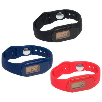 Tap 'N Read Waterproof Fitness Tracker + Pedometer Watch