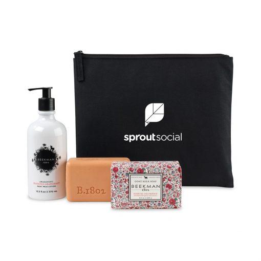 Beekman 1802 Farm To Skin Lotion & Bar Soap Gift Set - Black-Honeyed Grapefruit