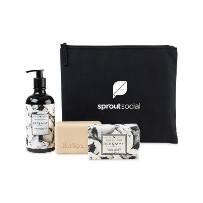 Beekman 1802 Farm To Skin Lotion & Bar Soap Gift Set - Black-Vanilla Absolute