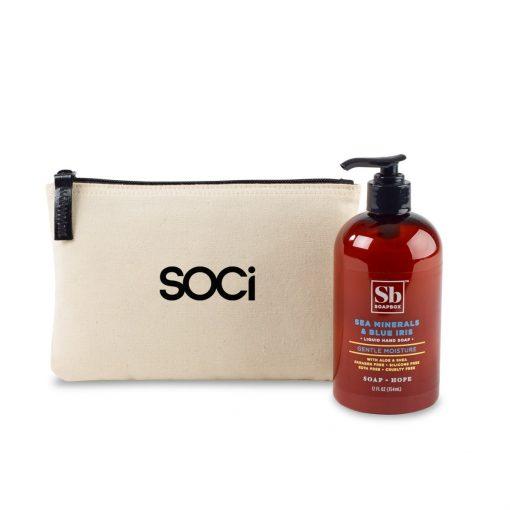 Soapbox® Healthy Hands Gift Set - Natural-Sea Minerals & Blue Iris
