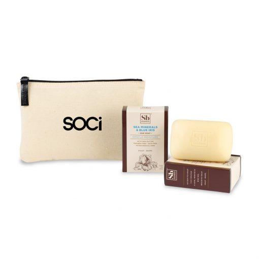 Soapbox® Nourish & Restore Gift Set - Natural-Sea Minerals & Blue Iris