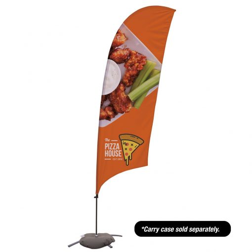 10.5' Value Razor Sail Sign - 1-Sided with Cross Base