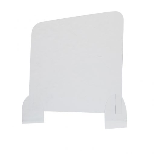 """40"""" x 32"""" Protective Acrylic Counter Barrier Hardware"""