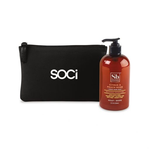 Soapbox® Healthy Hands Gift Set - Black-Citrus & Peach Rose