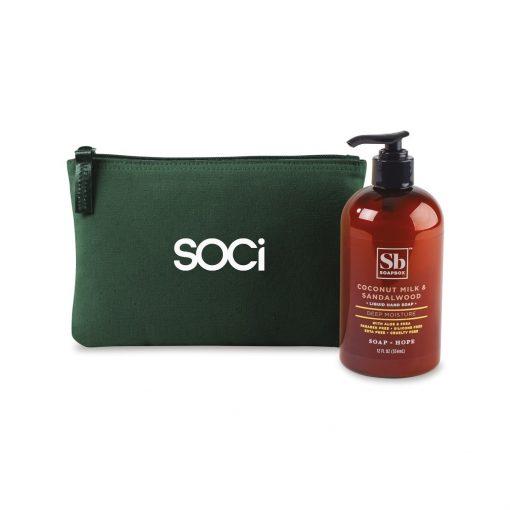 Soapbox® Healthy Hands Gift Set - Deep Forest Green-Coconut Milk & Sandalwood