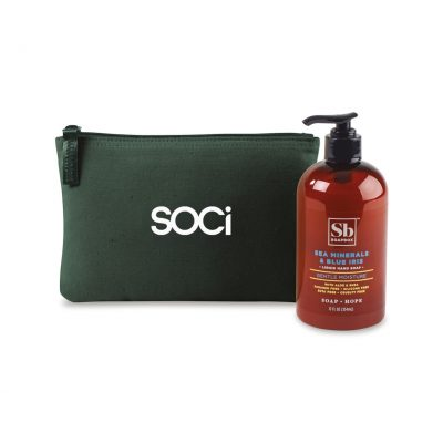 Soapbox® Healthy Hands Gift Set - Deep Forest Green-Sea Minerals & Blue Iris