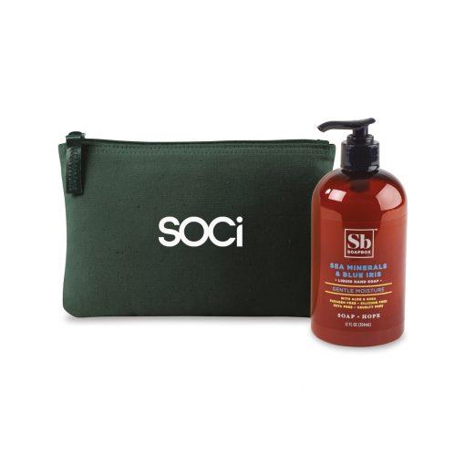 Soapbox® Healthy Hands Gift Set - Deep Forest Green-Sea Minerals & Blue Iris