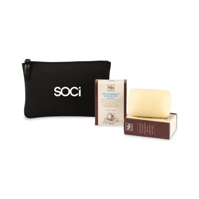 Soapbox® Nourish & Restore Gift Set - Black-Sea Minerals & Blue Iris
