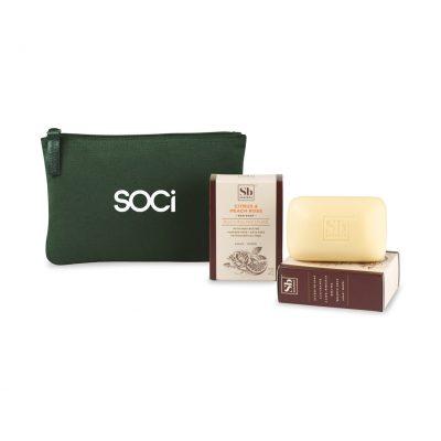 Soapbox® Nourish & Restore Gift Set - Deep Forest Green-Citrus & Peach Rose