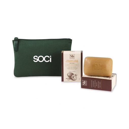 Soapbox® Nourish & Restore Gift Set - Deep Forest Green-Coconut Milk & Sandalwood