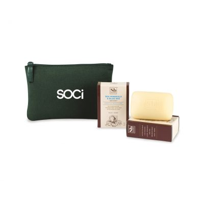 Soapbox® Nourish & Restore Gift Set - Deep Forest Green-Sea Minerals & Blue Iris