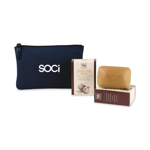 Soapbox® Nourish & Restore Gift Set - Navy Blue-Coconut Milk & Sandalwood