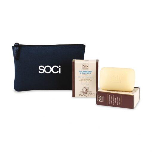 Soapbox® Nourish & Restore Gift Set - Navy Blue-Sea Minerals & Blue Iris