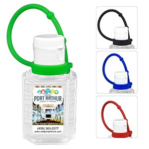 """SanPal Connect"" 1.0 oz Compact Hand Sanitizer Antibacterial Gel in Flip-Top Squeeze Bottle"