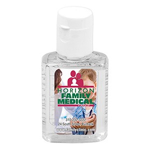 """SanPal S"" 0.5 oz Compact Hand Sanitizer Antibacterial Gel in Flip-Top Squeeze Bottle"