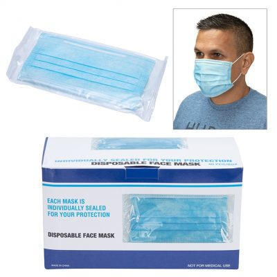 Shield II Box of 40pcs Individually Bagged Disposable Face Masks