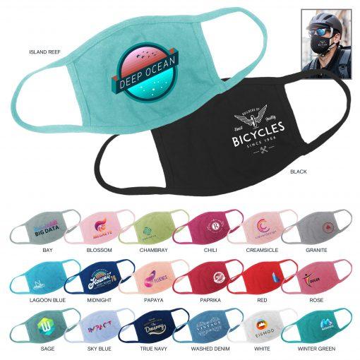USA Custom Color - 100% Cotton Protective Face Mask