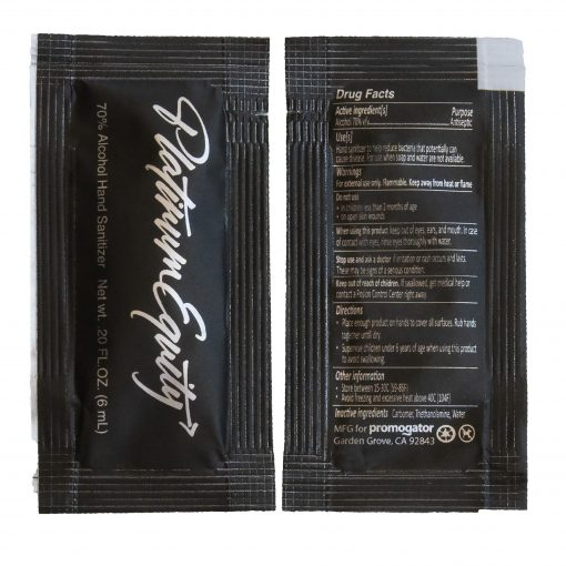 Hand Sanitizer Sachet Gel Packet-Gloss Metallic