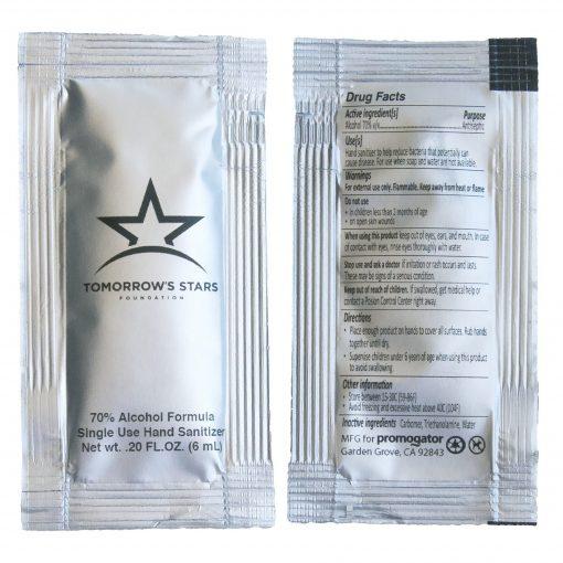 Hand Sanitizer Sachet Gel Packet Silver