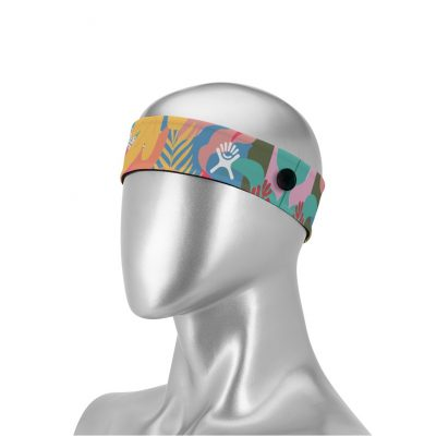 """Mask Buddy Elite 2"""" Dye-Sub Head Band with Buttons"""