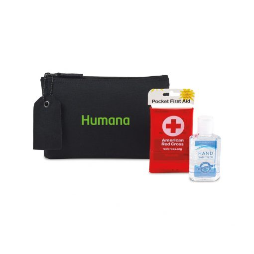 American Red Cross Pocket First Aid and Hand Sanitizer Bundle - Black