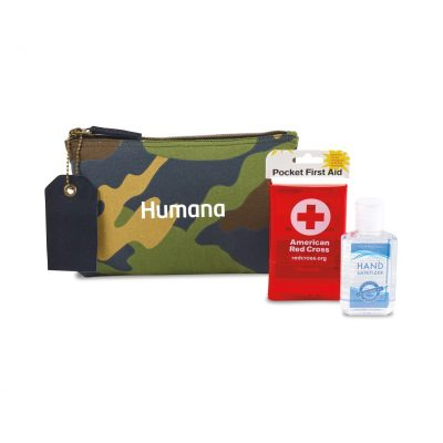 American Red Cross Pocket First Aid and Hand Sanitizer Bundle - Camo Classic