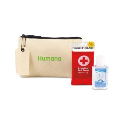 American Red Cross Pocket First Aid and Hand Sanitizer Bundle - Natural