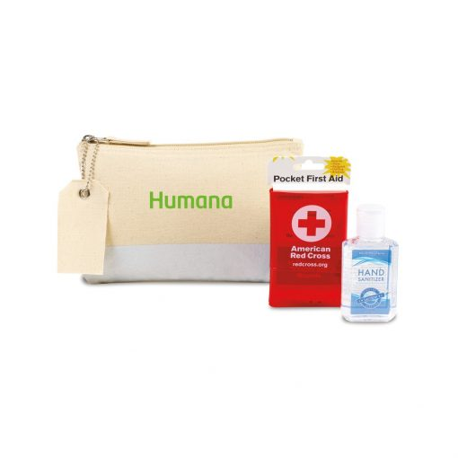 American Red Cross Pocket First Aid and Hand Sanitizer Bundle - Natural-Iridescent