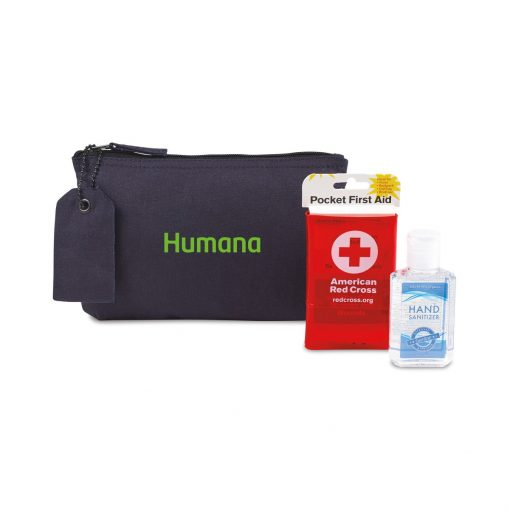 American Red Cross Pocket First Aid and Hand Sanitizer Bundle - Navy
