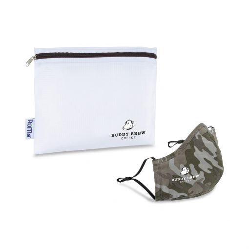 Reusable Face Mask and Storage Pouch Kit - Light Camo Classic