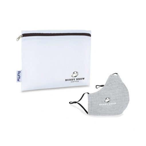 Reusable Face Mask and Storage Pouch Kit - Quiet Grey Heather