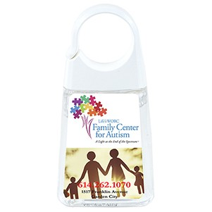 """Couture"" 1.35 Oz Hand Sanitizer Antibacterial Gel in Clip Cap Bottle"