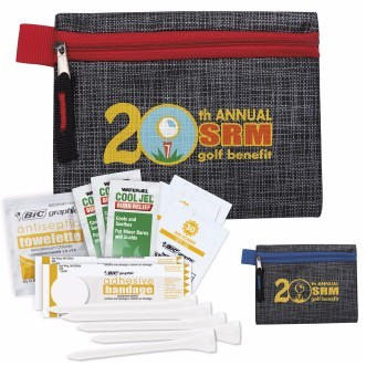 GoodValue® Golf First Aid Kit w/Printed Non-Woven Pouch