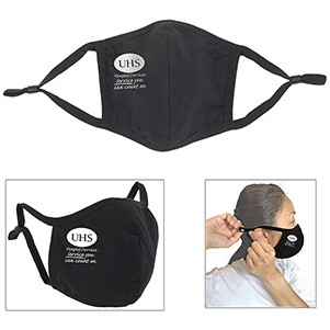3Ply 3-D Reusable Cotton Face Mask with Ear Loop Adjuster