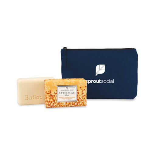Beekman 1802® Farm to Skin Bar Soap Gift Set - Navy Blue-Honey & Orange Blossom