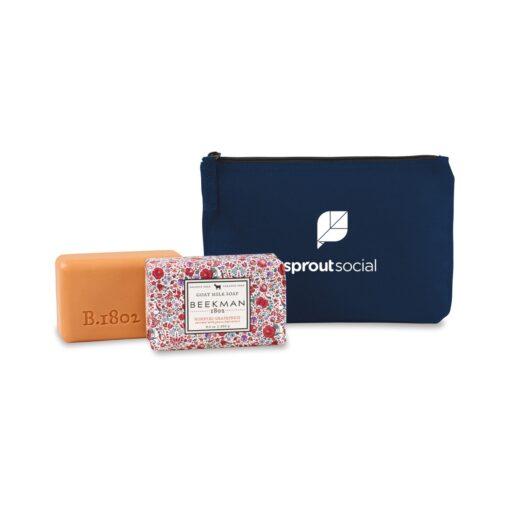 Beekman 1802® Farm to Skin Bar Soap Gift Set - Navy Blue-Honeyed Grapefruit