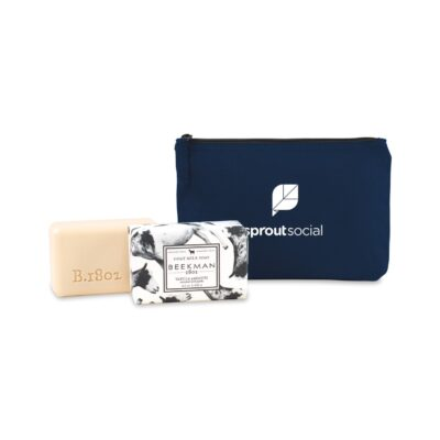 Beekman 1802® Farm to Skin Bar Soap Gift Set - Navy Blue-Vanilla Absolute
