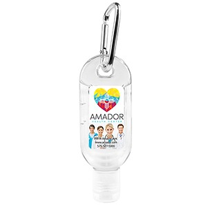 """SanGo L"" 1.8 oz Hand Sanitizer Antibacterial Gel in Flip-Top Bottle with Carabiner (PhotoImage Full"