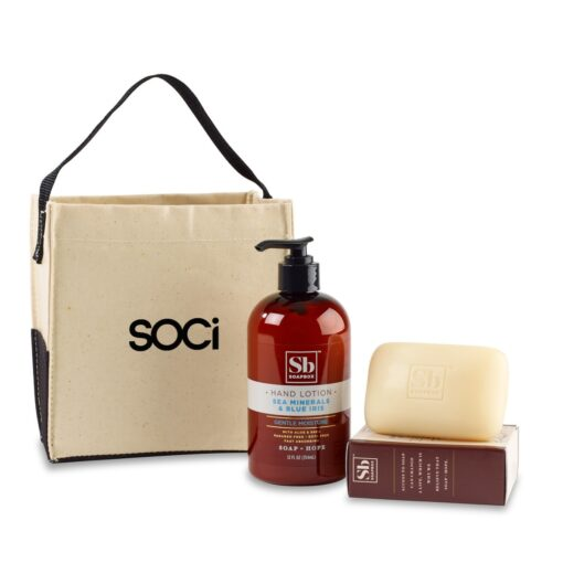 Soapbox™ Cleanse & Revive Gift Set - Natural-Sea Minerals & Blue Iris