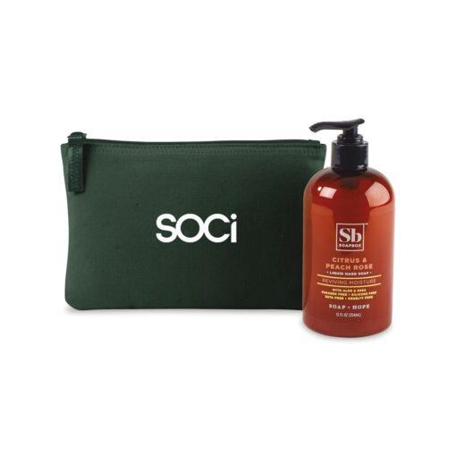 Soapbox™ Healthy Hands Gift Set - Deep Forest Green-Citrus & Peach Rose