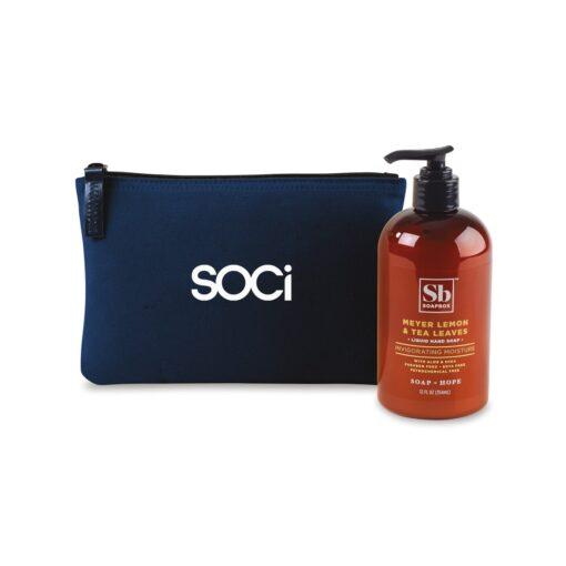 Soapbox™ Healthy Hands Gift Set - Navy Blue-Meyer Lemon & Tea Leaves