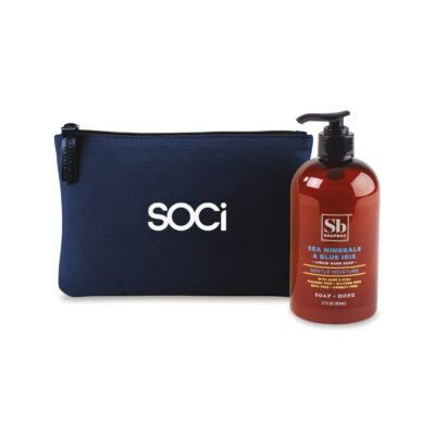 Soapbox™ Healthy Hands Gift Set - Navy Blue-Sea Minerals & Blue Iris