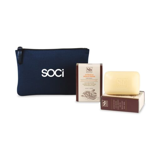 Soapbox™ Nourish & Restore Gift Set - Navy Blue-Citrus & Peach Rose