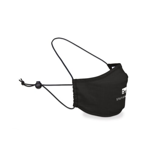 Reusable Over The Head Face Mask - Black
