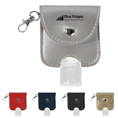 1 Oz. Hand Sanitizer With Leatherette Pouch