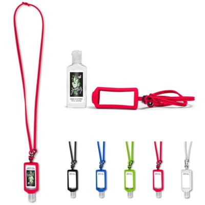 1 Oz. Hand Sanitizer w/Silicone Lanyard & Holder