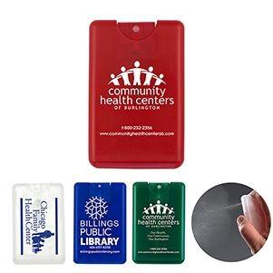 """SanCard"" 20 ml. Antibacterial Hand Sanitizer Spray in Credit Card Shape Bottle"