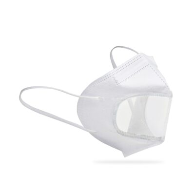 Single Use Clear Face Mask - Direct Import - White