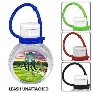 1.0 oz Compact Hand Sanitizer Antibacterial Gel in Flip-Top Squeeze Bottle with Adjustabel Silicone